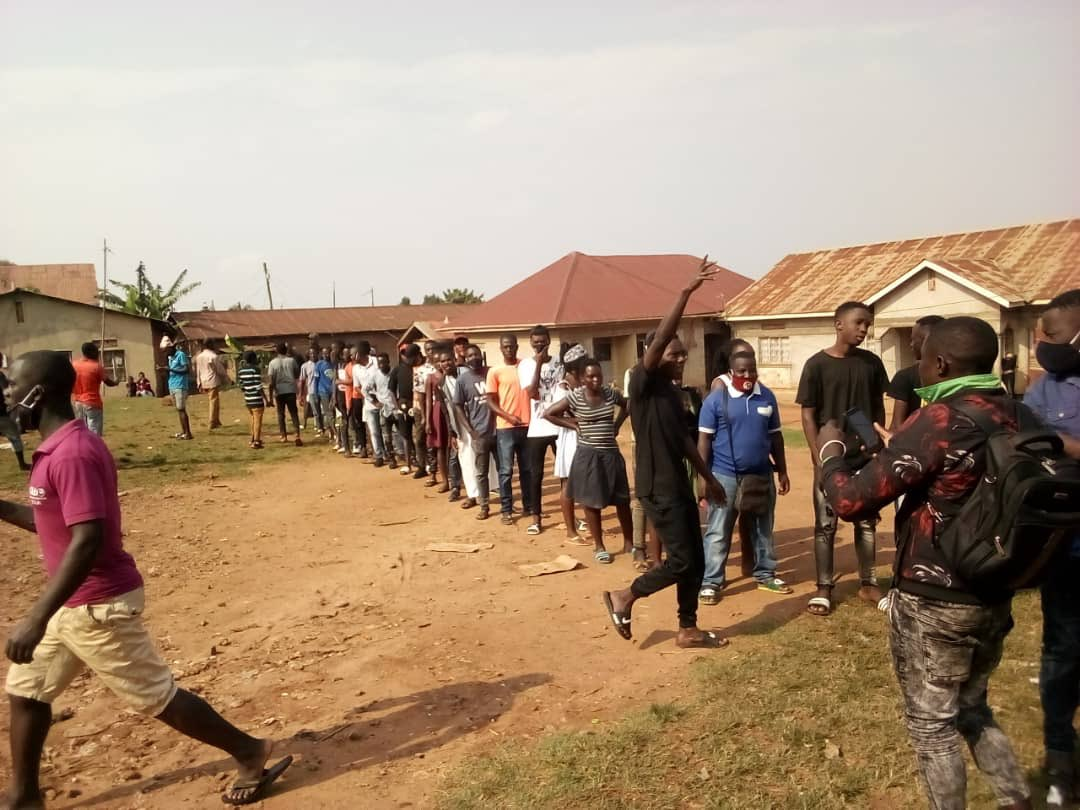 Youth lining up to vote