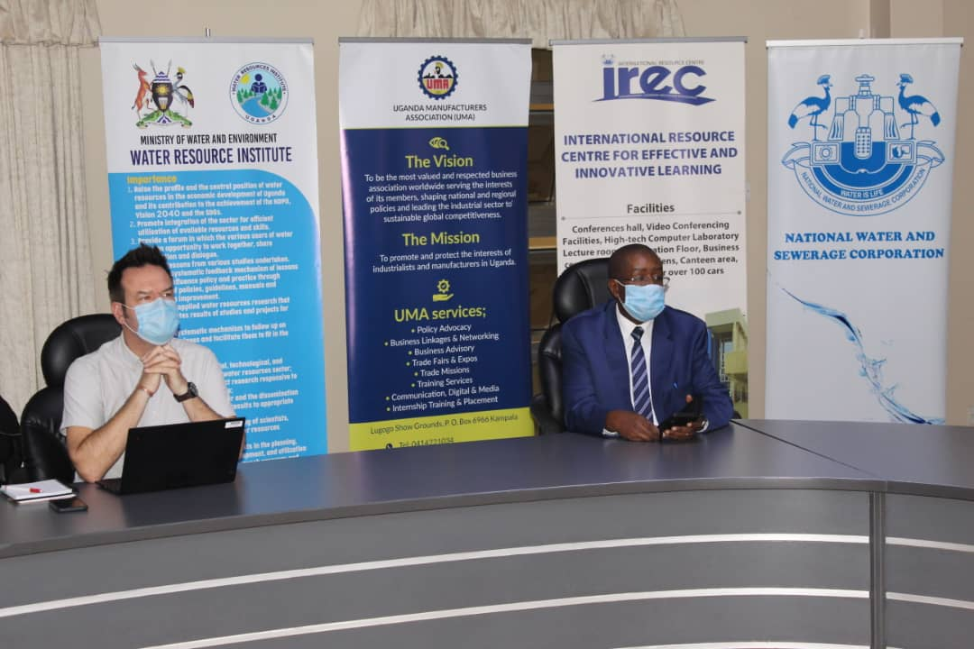 Officials during the virtual conference
