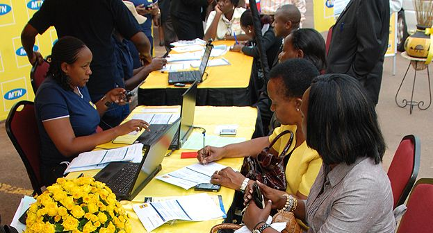 MTN customers registering for sim cards