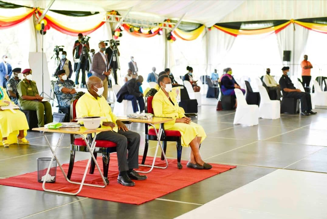 President Museveni at the nomination centre