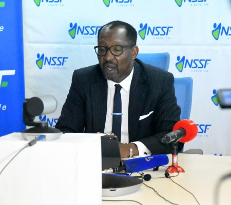 NSSF managing director Richard Byarugaba