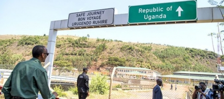 President Paul Kagame at the Katuna Border