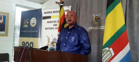 Internal Affairs Minister Gen Jeje Odongo issued the report. Courtesy photo