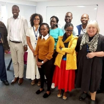 Students and faculty from the Makerere University School of Public Health during a recent exchange visit to Nottingham Trent University.