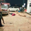 Scene of crime: Total Nsambya where police shot at armed robbers. Courtesy photo