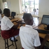 Students of Ongongoja SS using the newly revamped ICT lab