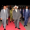 Museveni arrives in Nairobi Kenya on Tuesday. PPU Photo