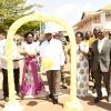 President Museveni with Speaker Rebecca Kadaga cutting the tape to launch the NITA-U Jinja data centre. PPU photo