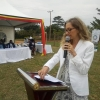 US Ambassador Deborah Malac speaking during the faccility handover in Kakiri. DPU photo