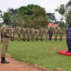 Deputy IGP Gen Sabiiti Muzeyi receiving a guard of honour. Courtesy photo
