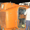 One of the accident trucks on Jinja road on Monday evening. Courtesy photo