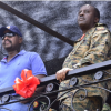 Lt Gen Muhoozi Kainerugaba (L) with the Chief of Defence Forces at a recent function