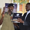 Deputy IGP Gen Sabiiti taking oath. Courtesy photo