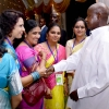 President Museveni interacts with Indians during Diwali celebrations as SHE. PPU Photo