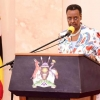 Minister of Education Janet Museveni in a televised address on Saturday. PPU photo