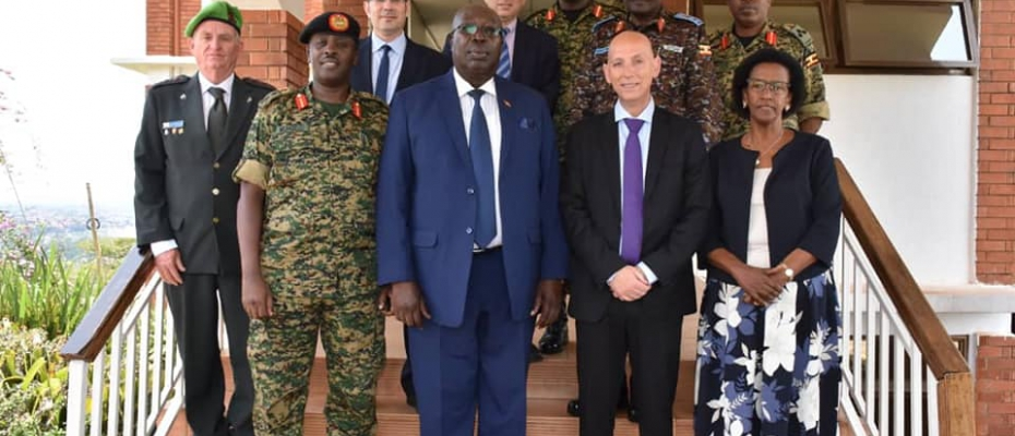 CDF Gen.David Muhoozi, Minister Engola and the Israel Defence delegation. DPU Photo