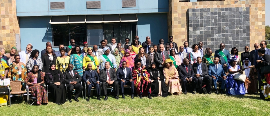 Members of the Pan African Parliament, shortly after openning of the session. Courtesy photo
