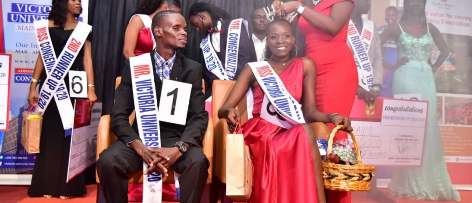 Achan Nhial Bol and Robert Sekamanya are the new Miss and Mr Victoria University 2019