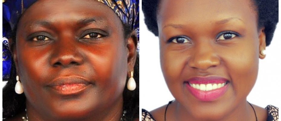 Anna Adeke is set to battle with Angelline Osegge (L) for Soroti Woman seat
