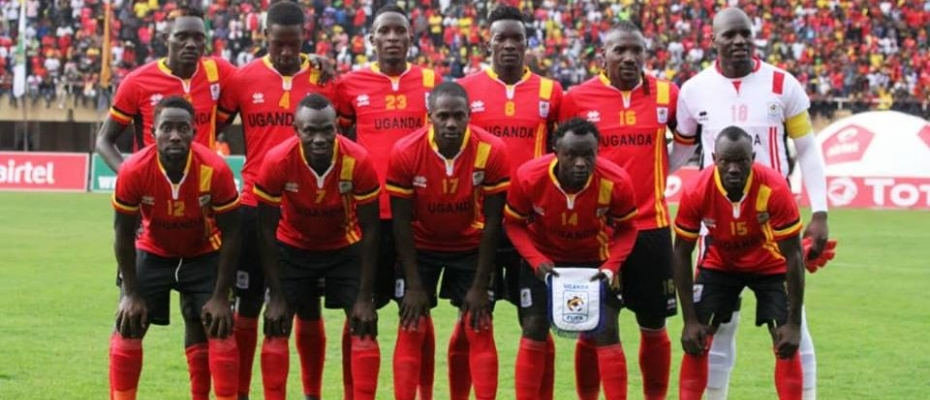 Uganda Cranes team at AFCON in Egypt. Courtesy photo