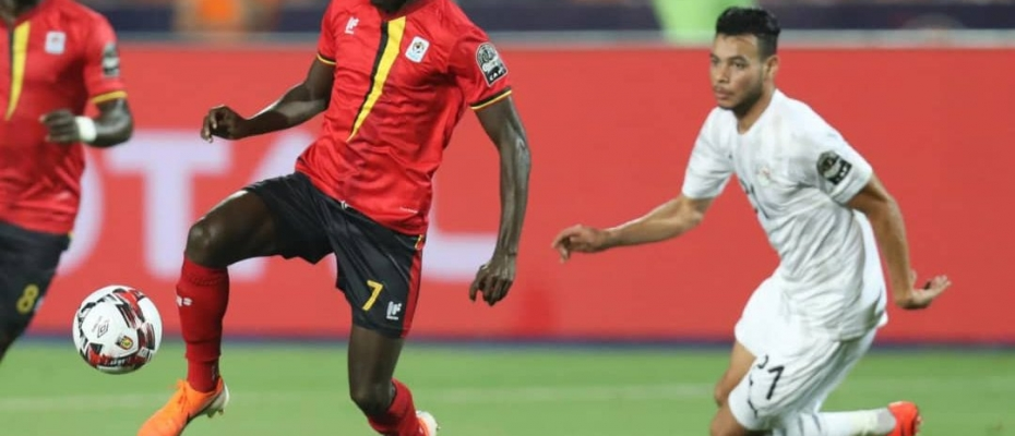 The Uganda Cranes players in action at AFCON2019 in Egypt. Courtesy photo