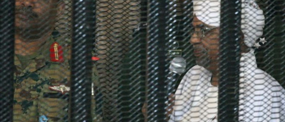 Omar al-Bashir appeared in court in a cage on Monday. Courtesy photo