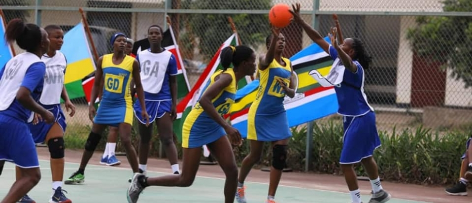 The UPDF Netball team in action. DPU photo