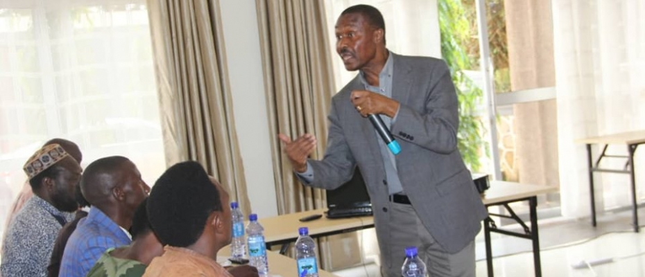 Gen Muntu during a leaders' induction meeting in Hoima. Courtesy photo