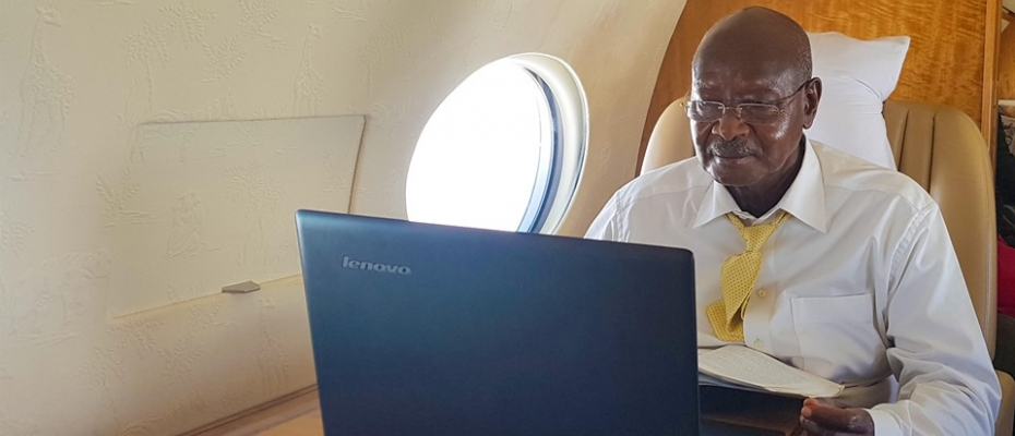 Museveni directly responds to social media followers. PPU photo