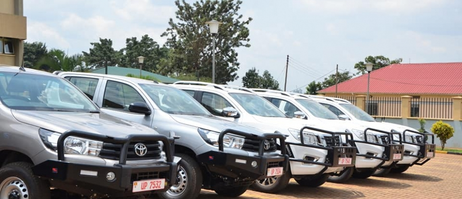 Some of the vehicles police received as donation. Courtesy photo