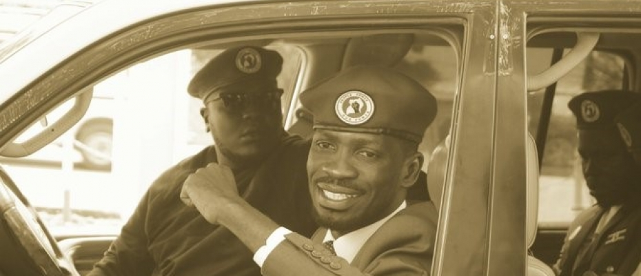 Bobi Wine as he headed to Hoima last week. Courtesy photo