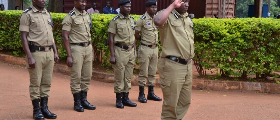 The Police Rectification team officials at Masindi Police Station. Courtesy photo