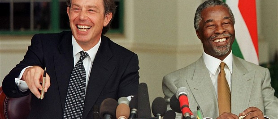 Prime Minister Tony Blair with South African deputy President Thabo Mbeki in 1999.Courtesy photo
