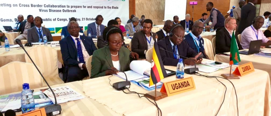 Health Minister Dr Jane Ruth Aceng in a meeting with other delegates. Courtesy photo