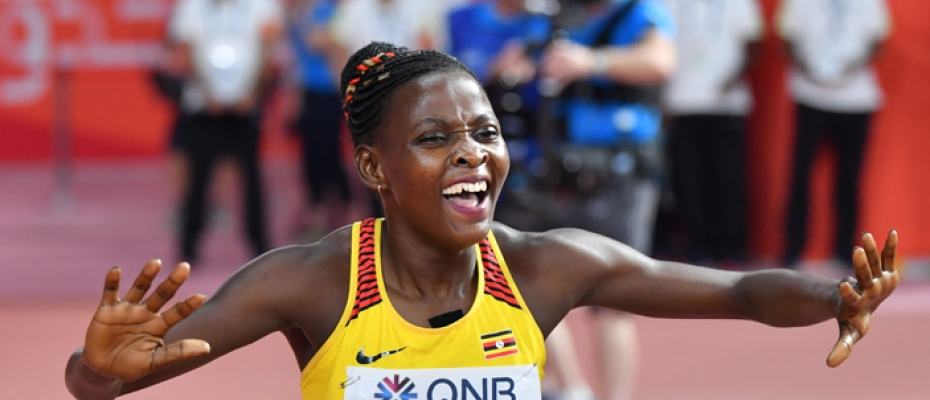 Nakaayi celebrates her victory. Courtesy photo