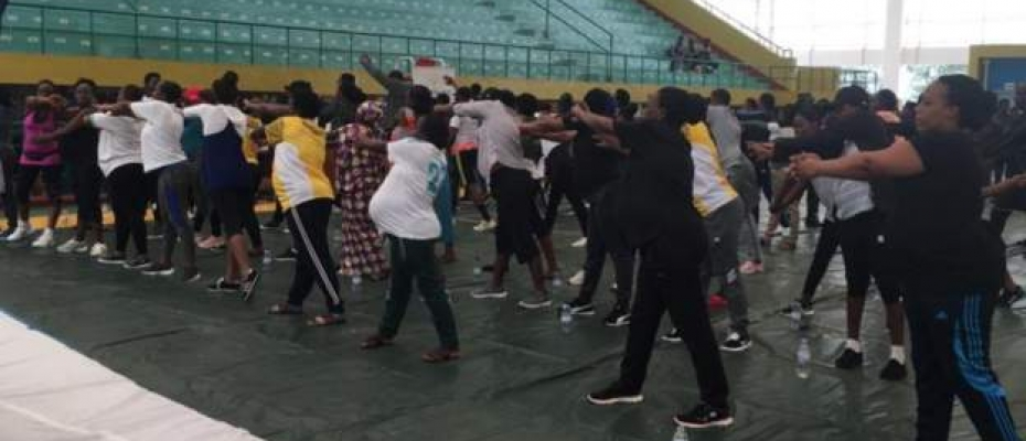 Pregnant women working out in Rwanda. Courtesy photo