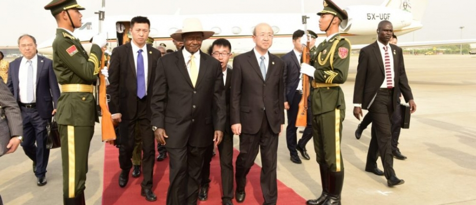 President Museveni recently arrives in Beijing for the Foram on China-Africa Cooperation (FOCAC) meeting .PPU Photo