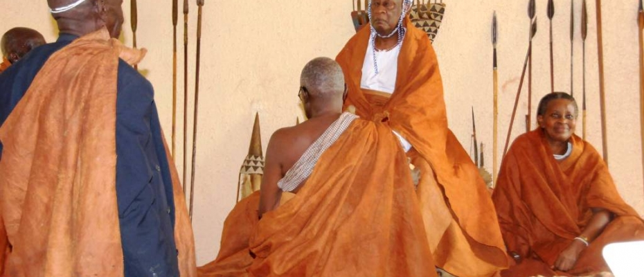 Bunyoro Omukama Solomon Gafabusa Iguru performing cultural rituals. Courtesy photo