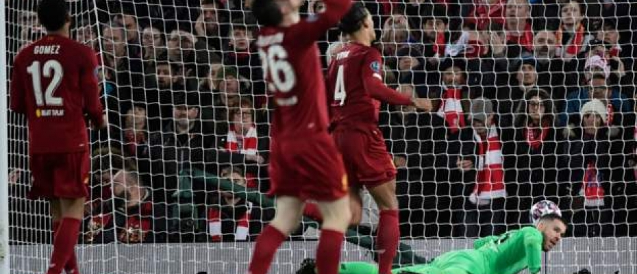 The Reds lost 3-2 at Anfield, 4-2 on aggregate.  Courtesy photo