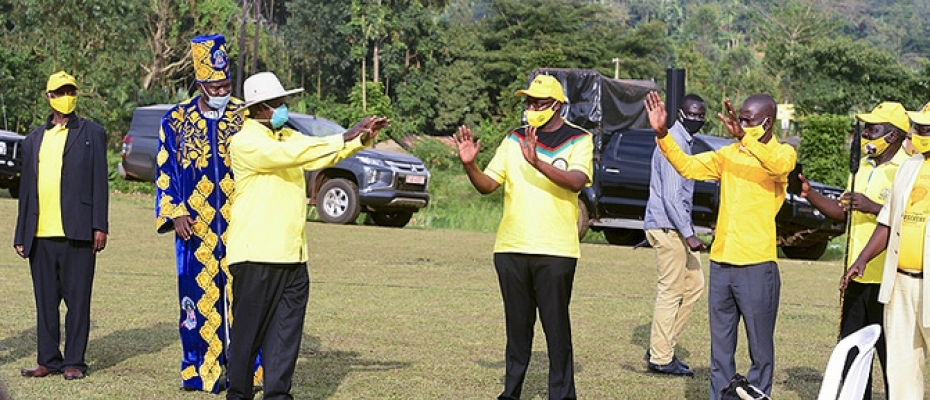Candidate Yoweri Museveni wrapped up his campaigns in Bugisu on Thursday