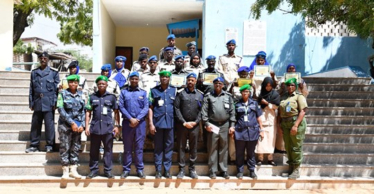 Members of the Somali Police Force (SPF) after the week-long training. Courtesy photo