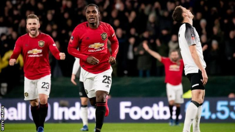 Odion Ighalo has scored four goals in eight appearances for United. Courtesy photo