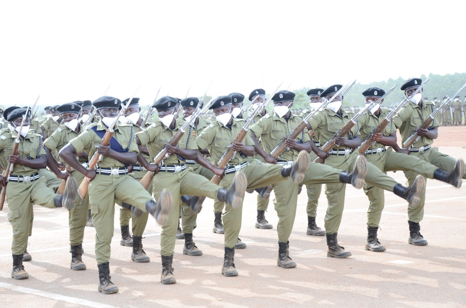 Police officers at a pass-out ceremony