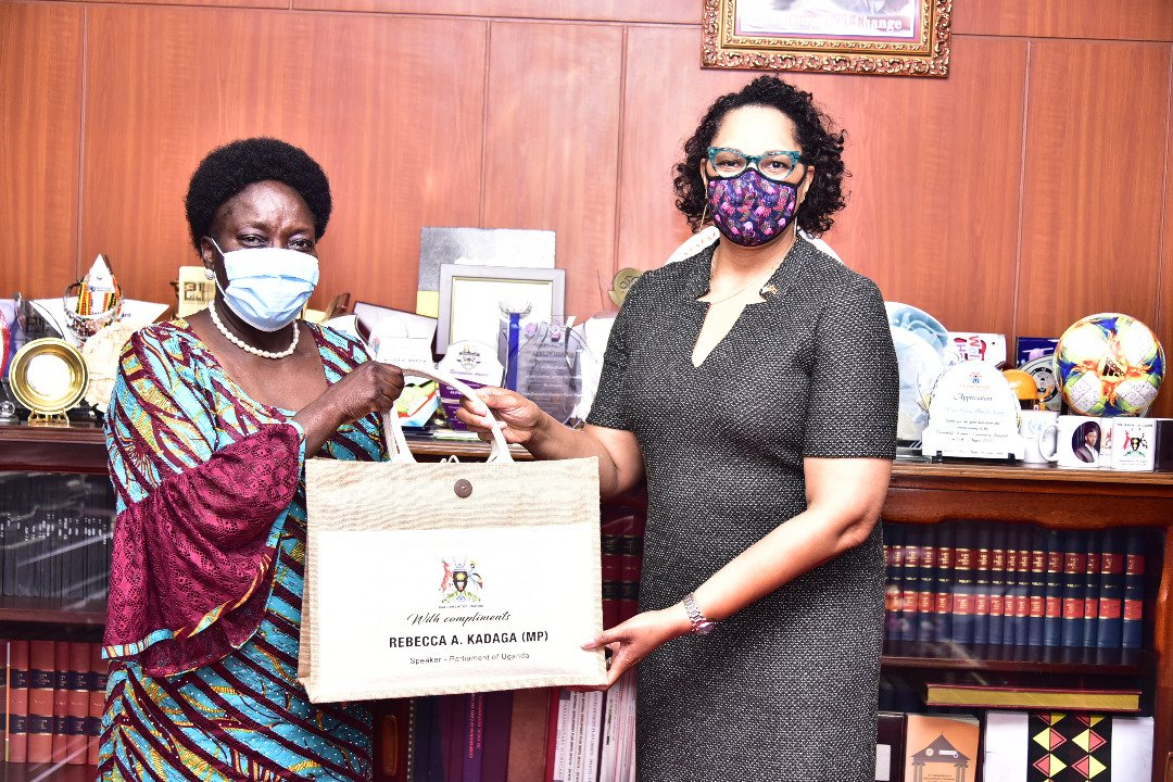 Speaker Kadaga meets Ambassador Brown