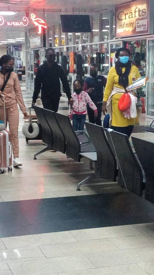 Bobi Wine's children pictured at Entebbe Airport fleeing the country for Texas, USA