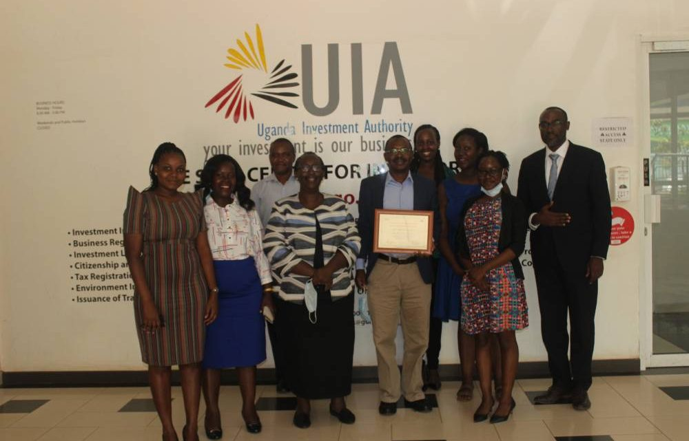 UIA staff during the training