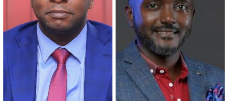 Peter Kahiigi (L) and Steven Kirenga are the latest top staff to quit NITA-U