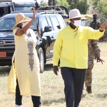 Museveni and First Lady in Moroto district