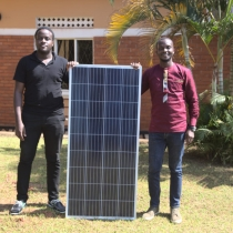 Douglas & David, Innovex co-founders at main office in Kampala