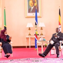 President Museveni with Suluhu